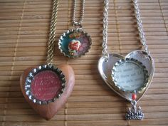 Bottle Cap Pendants - Trying this for sure!