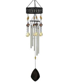 Take a look at this Topaz Sunset Wind Chime by Backyard Oasis Boutique on #zulily today!