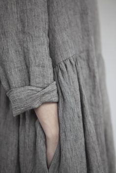 pocket, fashion, cloth, cuff, rustic style, color stories, wear, grey dresses, linen