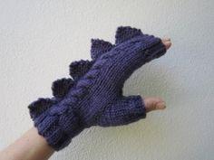 knitmitt, crafti thing, knit mittens, dinosaur knit, dinosaurs
