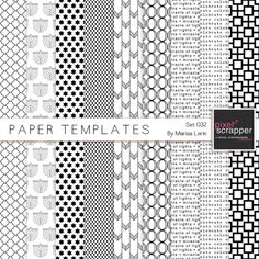 Paper Templates 032 Kit | digital scrapbooking
