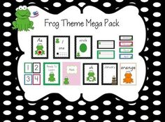 Create an adorable frog themed classroom! 174 PAGES IN ALL!This pack includes:  1. 52 alphabet posters with pictures(Modern Manuscript and Print) *YOU CAN CHOOSE WHICH STYLE TO DISPLAY IN YOUR CLASSROOM 2. Number posters 0-20 with ten frames 3. 2D and 3D shape posters (circle, square, rectangle, triangle,hexagon, oval, rhombus, heart, star, sphere, cube, rectangular prism, pyramid, cone, cylinder) 4. Nametags in four colors 5. Nametags in four colors with alphabet and numbers 0-20 6. 12 months of the year calendar headers 7. 4 blank tags 8. Number cards 1-100 9. Fabulous frog behavior clip chart(outstanding behavior, good day, ready to learn, think about it, teacher's choice, parent contact) 10. 8 binder covers (reading, math, social studies, science, health, common core standards, meetings, blank) 11. Digraph Posters-sh, th, ch, wh, ph, oo (in m.manuscript and print) 12. Birthday Charts 13. Color Posters