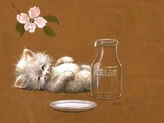 Contented Kitty - wallpapers