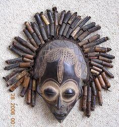 Vintage African CHOKWE Tribal Mask, Zaire