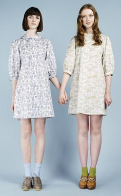 One for Allie, one for me. Dresses by Nadinoo