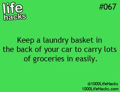 Why have I never thought of this?! And it can keep stuff in place instead of rolling around your trunk!