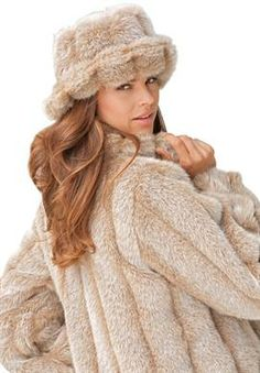 Roamans.com... Short Faux Fur Coat (this detail but in chocolatey Ranch Mink)