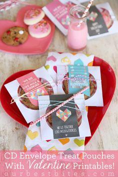 Valentine CD Envelope Treat Pouches