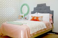 Rockin' Moroccan stenciled bedroom - Lolly Jane