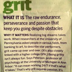 Grit definition psychology