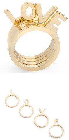 LOVE - stacking rings set from jewelmint ♥✤ | Keep the Glamour | BeStayBeautiful