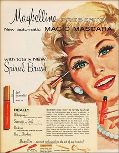 Maybelline presents Magic Mascara, c. 1959.