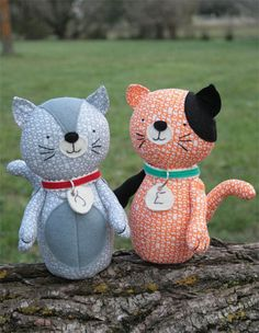 JUDE & ELOISE CAT SOFT TOY CRAFT SEWING PATTERN cats, craft, soft toy, pdf sew, patchwork quilting, sew pattern, elois, quilting fabric, sewing patterns