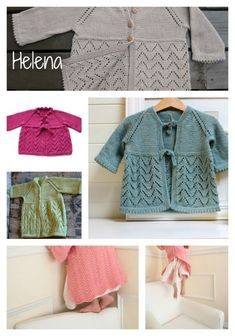 Free Knitting Pattern Helena - Baby Sweater Dress
