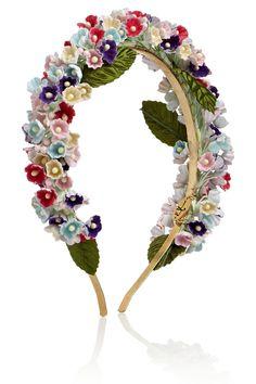 Eugenia Kim Sylvie floral-embellished headband NET-A-PORTER.COM