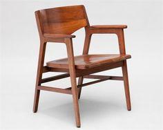 W.H. Gunlocke & Co. Walnut Chair $225
