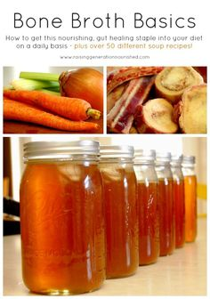 Bone Broth Basics :: Plus Over 50 Different Soup Recipes! www.deliciousobsessions.com