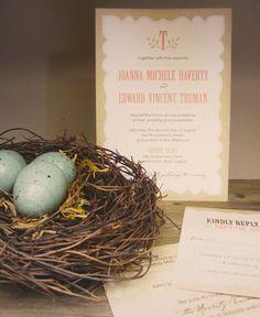 rustic burlap vintage wedding invitation