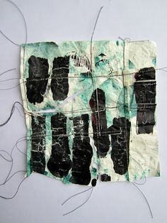 stitch therapy: paper, paint, stitch: