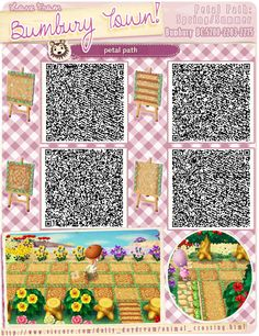 farm, pathway, qr code, petal path, flower, acnl path