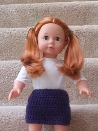 Crocheted Skirt for 18 Inch Dolls - Doll Making