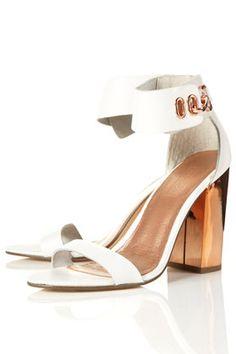 REFLECT Metallic Heel Sandals
