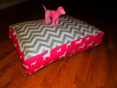 Plush dog beds by ByFaithCreations11 on Etsy, $35.00