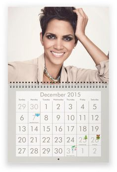 HALLE BERRY 2015 Wall Calendar SALE TODAY ! $27.99 free usa shipping