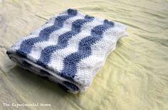 chevron baby blanket - free pattern! #crochetstitch #chevronstitch