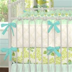 We wanna hear your thoughts on mint green. It's made a big come back in the nursery this year. Love it or leave it? #carouseldesigns #babygirl