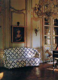 Lillian Williams The Chateau de Morson c1750. Image from World of Interiors