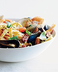 Emeril's Fettuccine with Spicy Shellfish from @Food & Wine