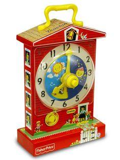 Retro Fisher Price Teaching Clock