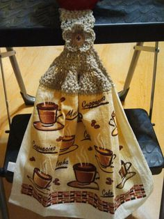 Lovely Dish Towel with Crocheted Topper by santacruzpaulina, $5.00