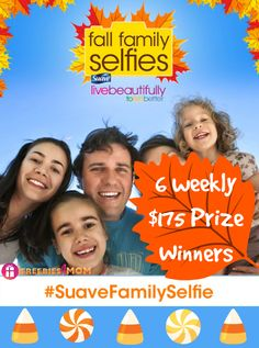 Happy Fall Y'all ~ Enter #SuaveFridayFamilySelfie Sweeps ~ ENTER---> http://freebies4mom.com/fallfamilyselfie AD ~ What's your favorite Family Fall Outing? #LB2LB #Walmart