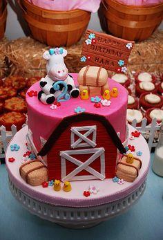 Farm Birthday Cake- so cute!