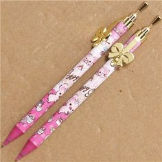 pink Piggy Girl pig mechanical pencil with ribbon @modes4u