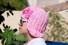 SO CUTE!!!   Pinky - Crochet Wig hat & removable hair clip to wear in your hair also.  (Adult Fit). $25.00, via Etsy.