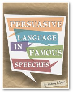 Using famous speeches from people such as Winston Churchill, Barak Obama, and William Wilberforce, this  amazing resource helps to teach secondary students about persuasive language!