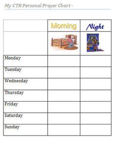 Printable Prayer Chart