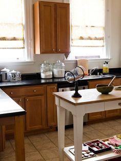 Small space savvy smart storage prevents kitchen - Narrow kitchen island table ...