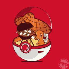 Charmander inside a Poke Ball.