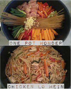 one pot wonder - chicken lo mein