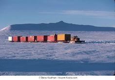 tundra train (cat train) on ice road