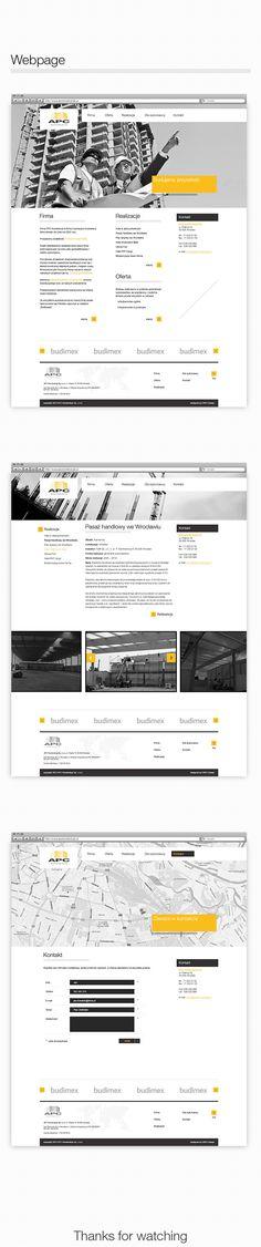 APC Construction - branding and webdesign by Martin Wisniewski, via Behance