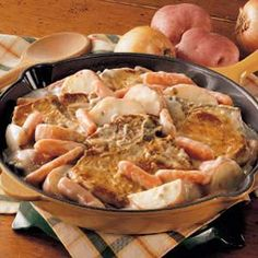 Pork Chop Supper Recipe | Taste of Home Recipes