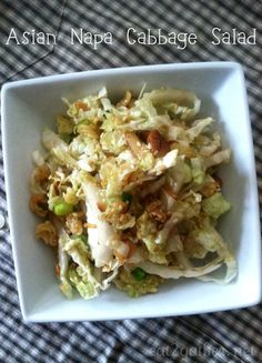 Asian Napa Cabbage Salad ~ great anytime side