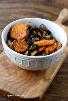 Brussle sprouts and sweet potatoes