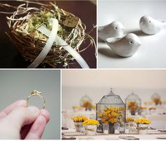 bird #wedding decor!  do you have a theme for your #bigday?  come share on #betweendesigns!