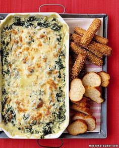 Spinach dip is always good!